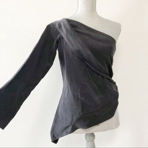 Anthropologie Lamarque one shoulder draped top